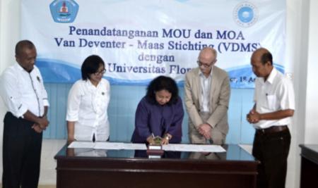 MoU VDMS dan Universitas Flores