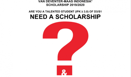 Open Application – Van Deventer-Maas Indonesia Scholarship 2019