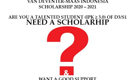 Open Application – Van Deventer-Maas Indonesia Scholarship 2020/2021